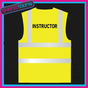INSTRUCTOR HI VIZ VEST ADULTS SIZES